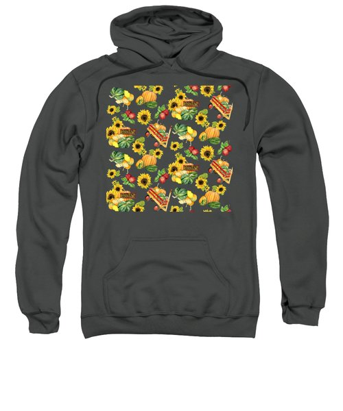 Celebrate Abundance Harvest Half Drop Repeat Sweatshirt by Audrey Jeanne Roberts