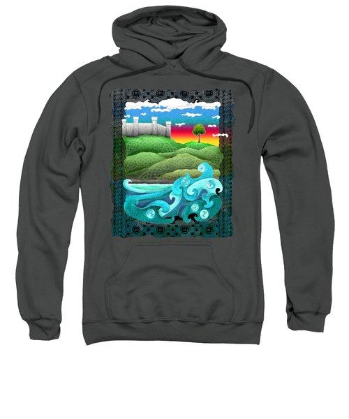 Celtic Castle Tor Sweatshirt by Kristen Fox
