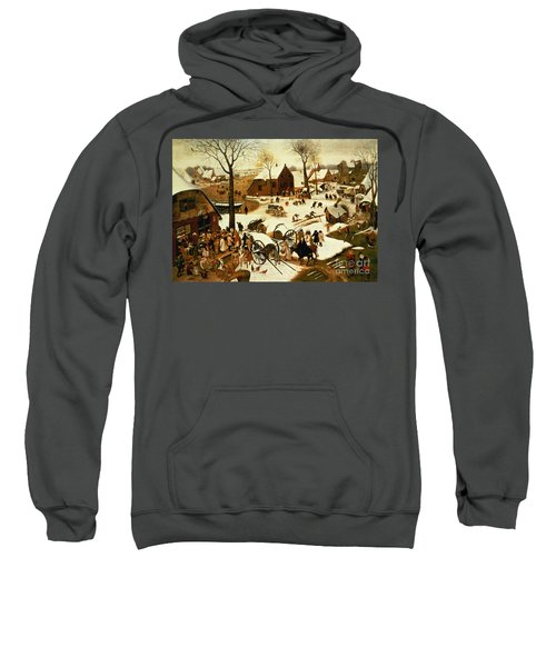 Census At Bethlehem Sweatshirt by Pieter the Elder Bruegel