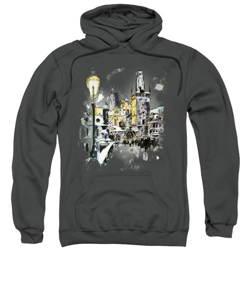 Charles Bridge In Winter Sweatshirt by Melanie D