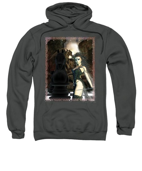 Chess 3d Fantasy Art Sweatshirt by Sharon and Renee Lozen