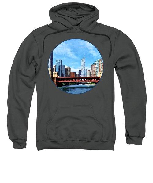 Chicago Il - Lake Shore Drive Bridge Sweatshirt by Susan Savad
