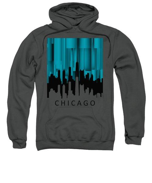Chicago Turqoise Vertical Sweatshirt by Alberto RuiZ