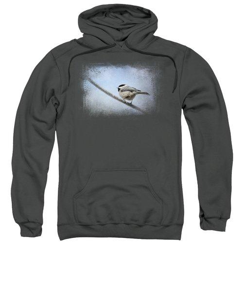 Chickadee In The Snow Sweatshirt by Jai Johnson