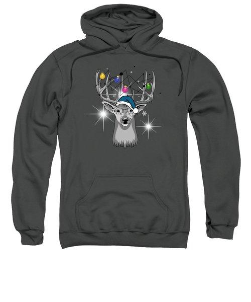 Christmas Deer Sweatshirt by Mark Ashkenazi