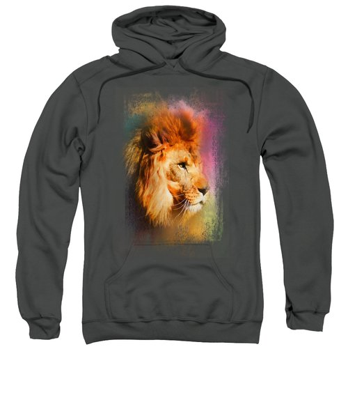 Colorful Expressions Lion Sweatshirt by Jai Johnson