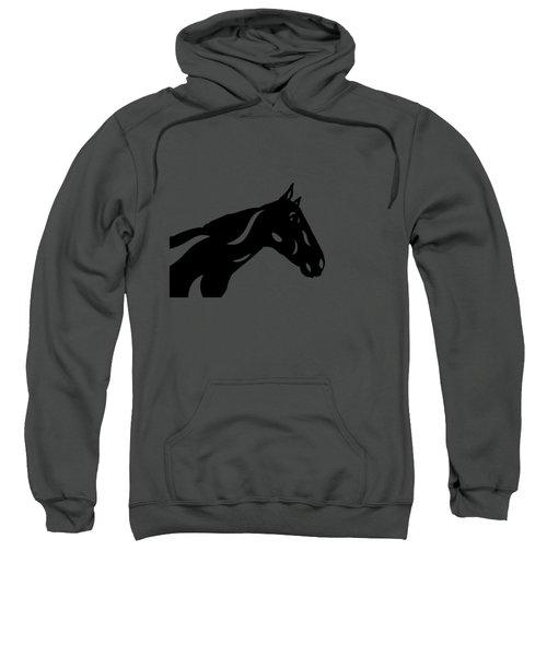 Crimson - Abstract Horse Sweatshirt by Manuel Sueess