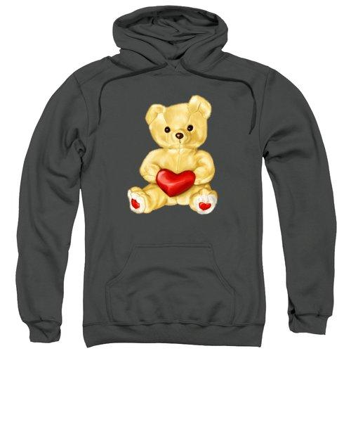 Cute Teddy Bear Hypnotist Sweatshirt by Boriana Giormova