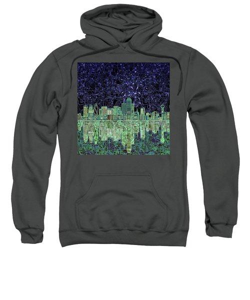 Dallas Skyline Abstract 4 Sweatshirt by Bekim Art