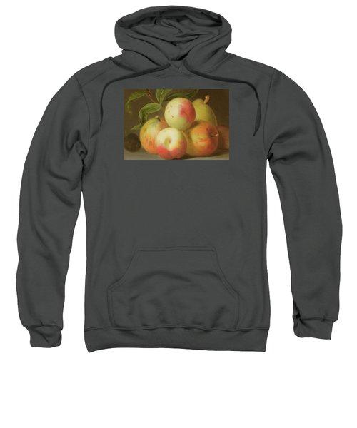 Detail Of Apples On A Shelf Sweatshirt by Jakob Bogdany