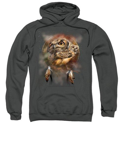 Dream Catcher - Spirit Of The Owl Sweatshirt by Carol Cavalaris