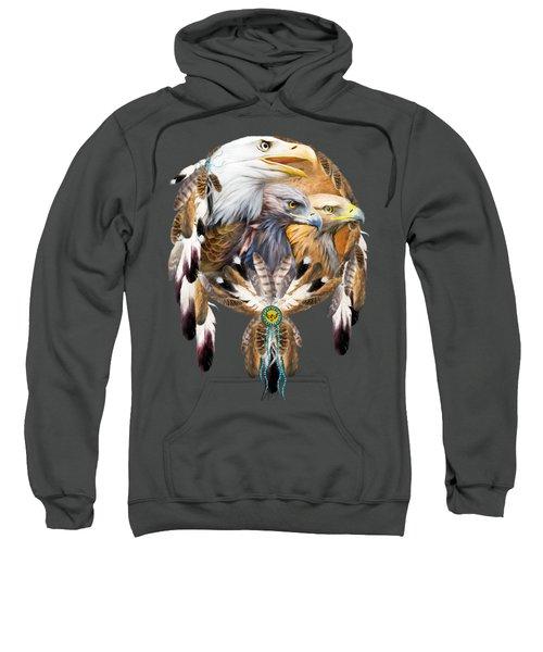 Dream Catcher - Three Eagles Sweatshirt by Carol Cavalaris