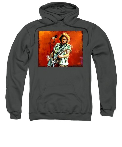 Eddie Vedder Painting Sweatshirt by Scott Wallace