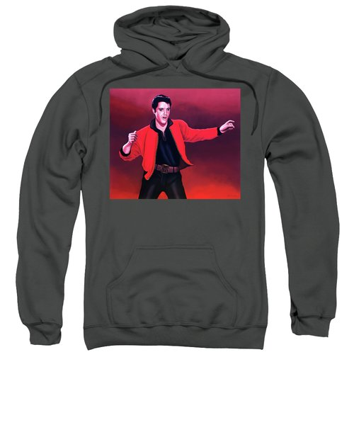 Elvis Presley 4 Painting Sweatshirt by Paul Meijering