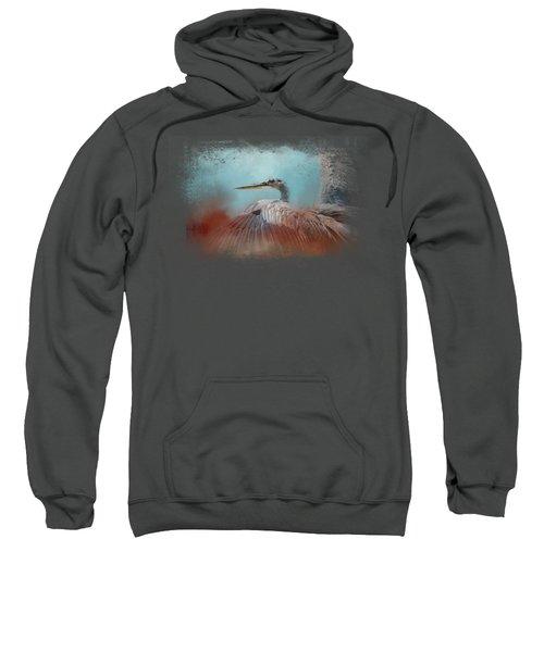 Emerging Heron Sweatshirt by Jai Johnson
