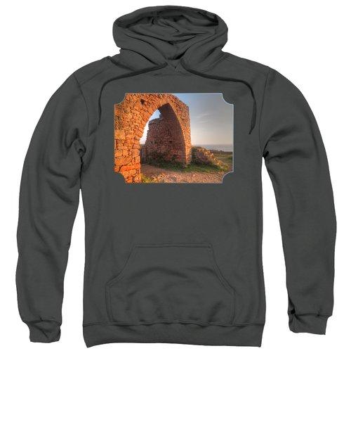 Evening Light On Grosnez Castle Ruins Jersey Sweatshirt by Gill Billington