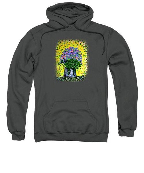 Explosive Flowers Sweatshirt by Alan Hogan