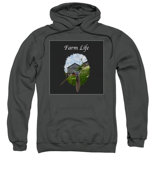 Farm Life Sweatshirt by Jan M Holden