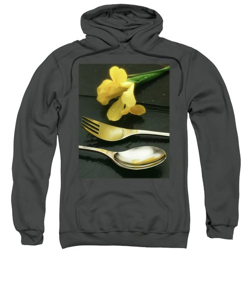 Flowers On Slate Sweatshirt by Jon Delorme
