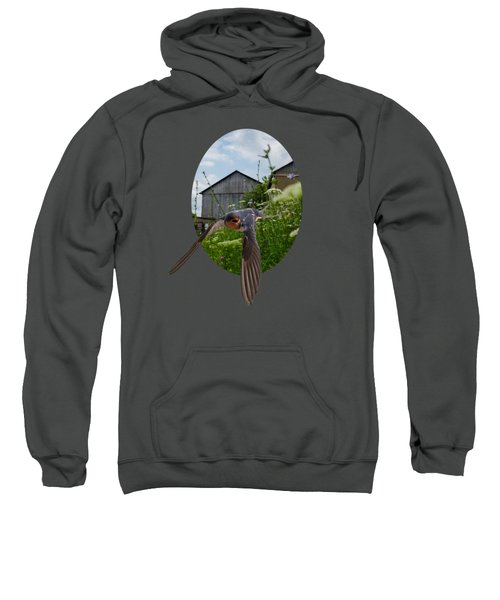 Flying Through The Farm Sweatshirt by Jan M Holden