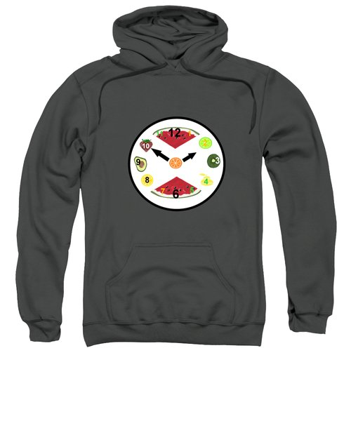 Food Clock Sweatshirt by Kathleen Sartoris
