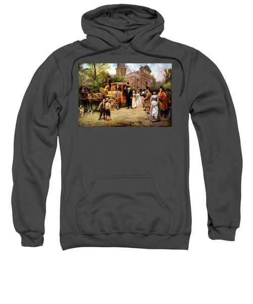 George Washington Arriving At Christ Church Sweatshirt by War Is Hell Store