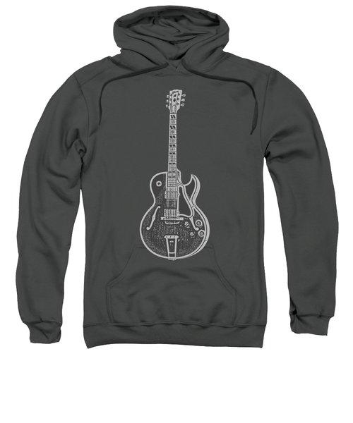 Gibson Es-175 Electric Guitar Tee Sweatshirt by Edward Fielding