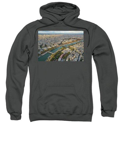 Golden Light Along The Seine Sweatshirt by Mike Reid