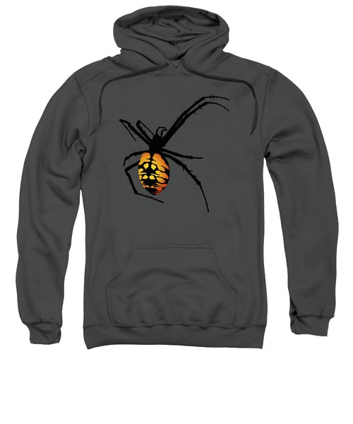 Graphic Spider Black And Yellow Orange Sweatshirt by MM Anderson