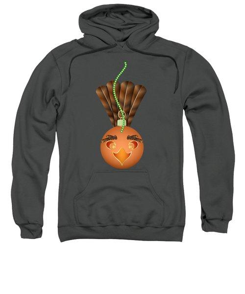 Hallowgivingmas Turkey Ornament Holiday Humor Sweatshirt by MM Anderson