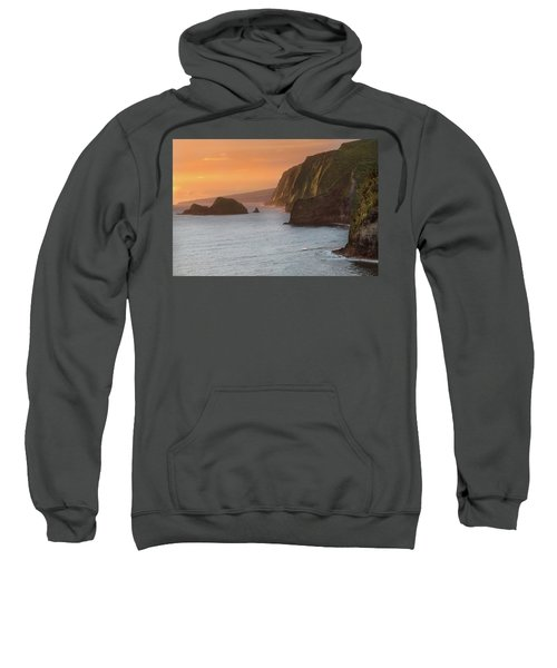 Hawaii Sunrise At The Pololu Valley Lookout 2 Sweatshirt by Larry Marshall