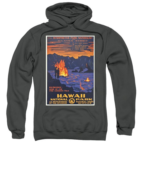 Hawaii Vintage Travel Poster Sweatshirt by Georgia Fowler