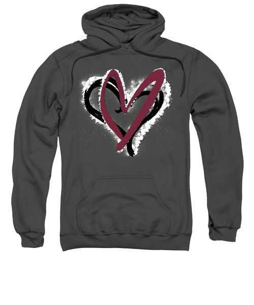 Hearts Graphic 6 Sweatshirt by Melissa Smith