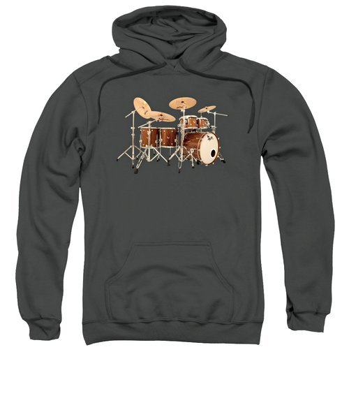 Hendrix  Drums Sweatshirt by Shavit Mason