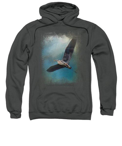 Heron In The Midst Sweatshirt by Jai Johnson