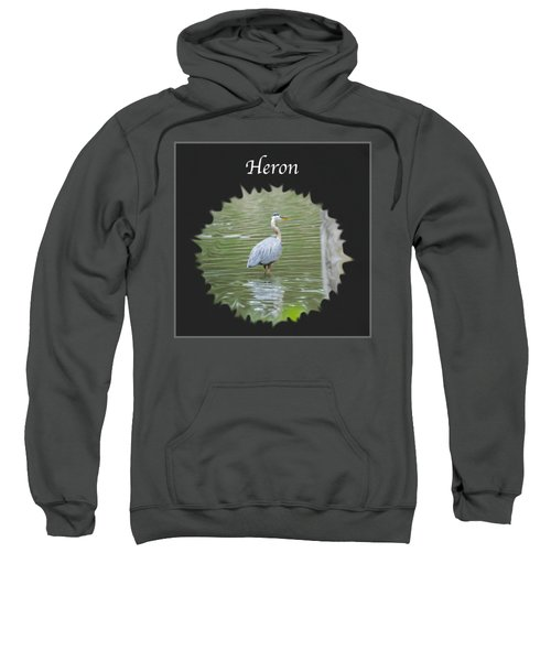 Heron Sweatshirt by Jan M Holden