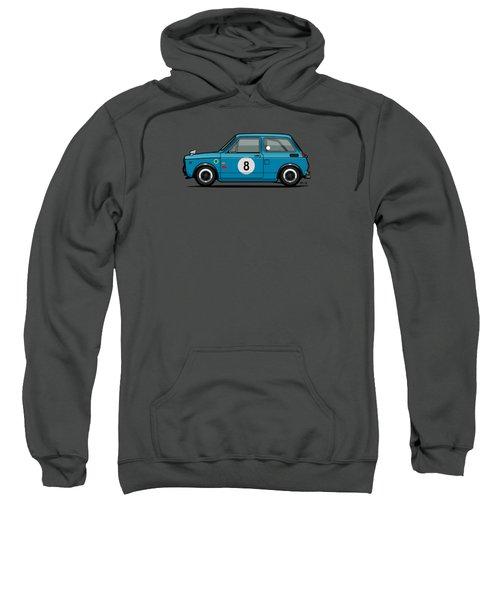 Honda N600 Blue Kei Race Car Sweatshirt by Monkey Crisis On Mars