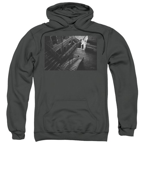 In Pursuit Of The Devil On The Stairs Sweatshirt by Joseph Westrupp