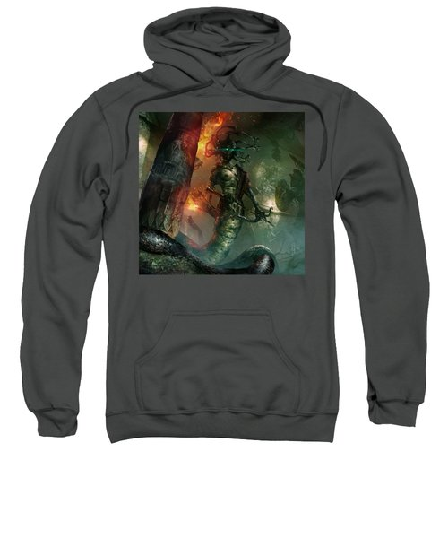 In The Lair Of The Gorgon Sweatshirt by Ryan Barger