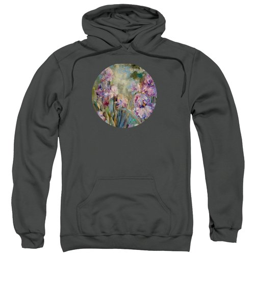 Iris Garden Sweatshirt by Mary Wolf