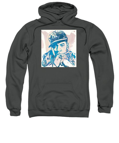 Jay-z  Etching Pop Art Poster Sweatshirt by Kim Wang