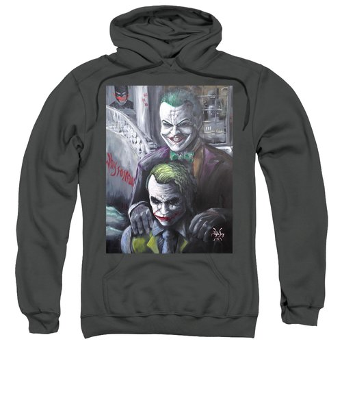 Jokery In Wayne Manor Sweatshirt by Tyler Haddox