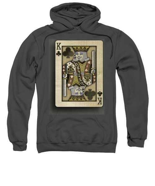 King Of Clubs In Wood Sweatshirt by YoPedro