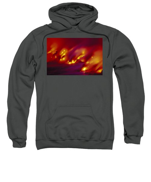 Lava Up Close Sweatshirt by Ron Dahlquist - Printscapes