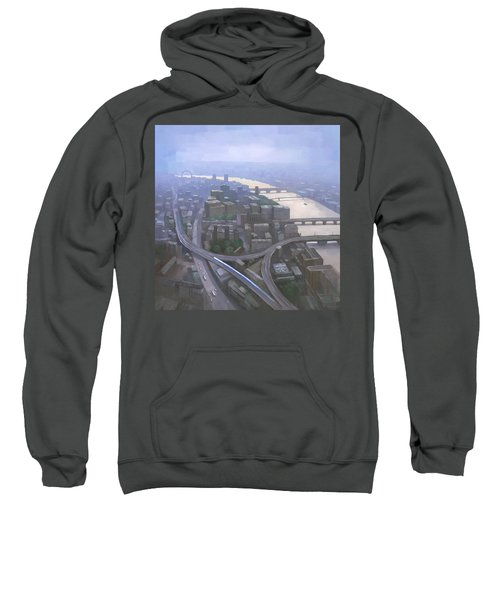 London, Looking West From The Shard Sweatshirt by Steve Mitchell