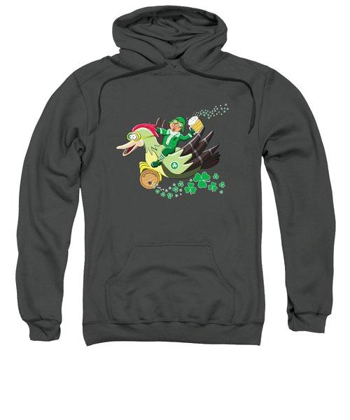 Lucky Leprechaun Sweatshirt by David Brodie