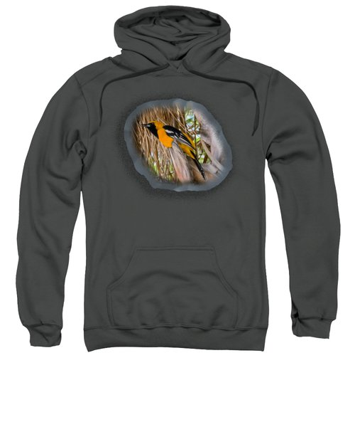 Male Hooded Oriole H17 Sweatshirt by Mark Myhaver