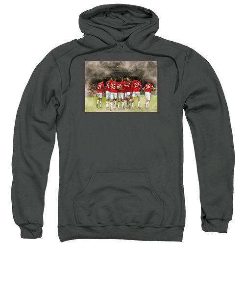 Manchester United  In Action  Sweatshirt by Don Kuing