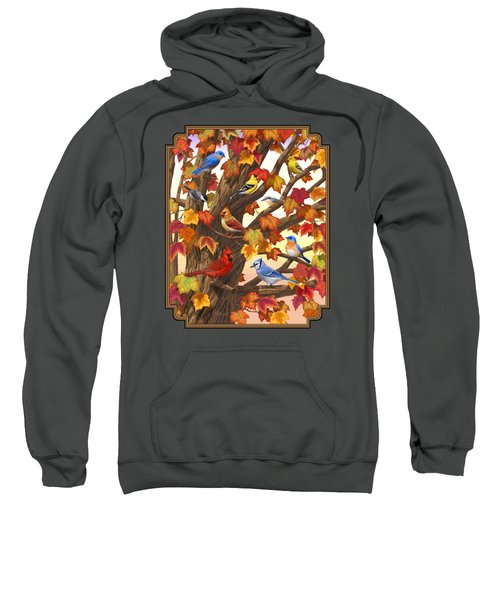Maple Tree Marvel - Bird Painting Sweatshirt by Crista Forest