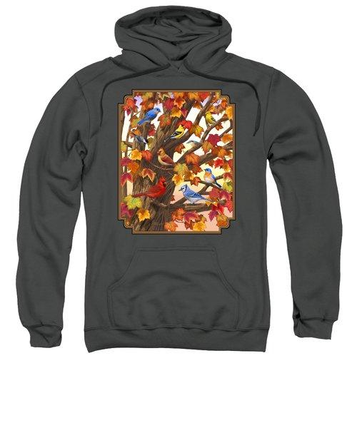 Maple Tree Marvel - Bird Painting Sweatshirt by Crista Forest